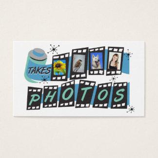 Cartão de visita retro customizável do fotógrafo