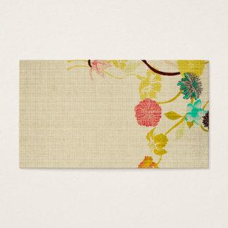 Cartão de visita retro das flores