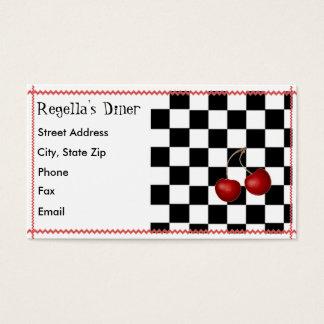 Cartão de visita retro do comensal
