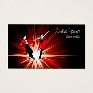 Cartão de visita retro do estúdio da dança do