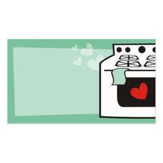 cartão de visita retro do padeiro do cozinheiro