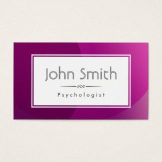 Cartão de visita roxo elegante do psicólogo