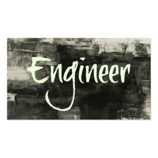 Cartão de visita rústico do engenheiro