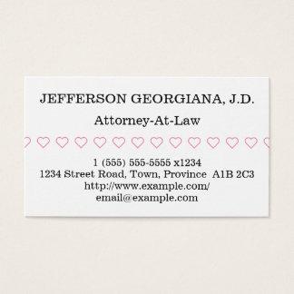 Cartão de visita simples da Advogado-Em-Lei