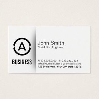 Cartão de visita simples do engenheiro da