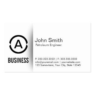 Cartão de visita simples do engenheiro do petróleo