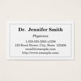 Cartão de visita simples do médico