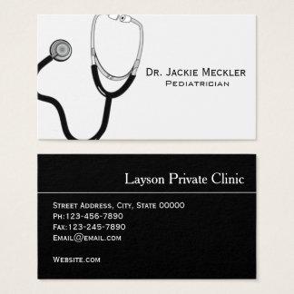 Cartão de visita simples do pediatra do