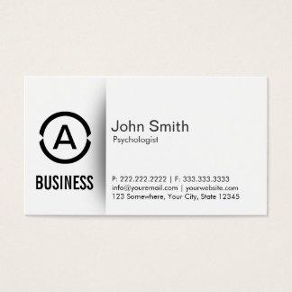 Cartão de visita simples do psicólogo do monograma