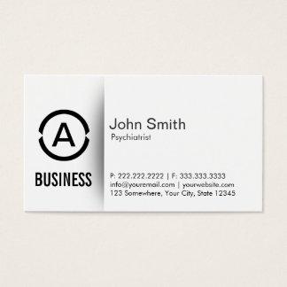 Cartão de visita simples do psiquiatra do