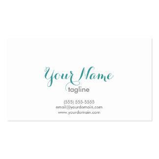 Cartão de visita simples e elegante - cor da