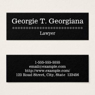 Cartão de visita simples e liso do advogado