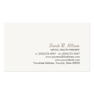 Cartão de visita simples e sofisticado