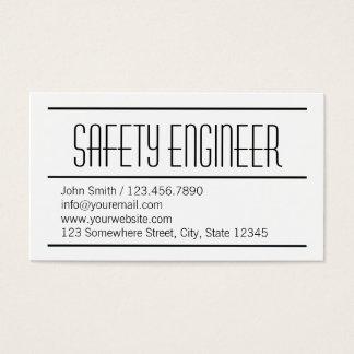 Cartão de visita simples moderno do engenheiro de