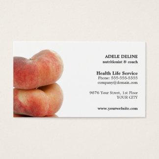 Cartão de visita simples moderno do nutricionista