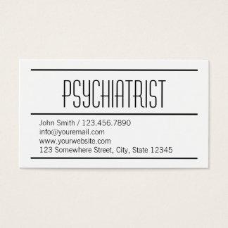 Cartão de visita simples moderno do psiquiatra