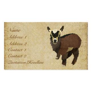 Cartão de visita Tag pequenos da cabra