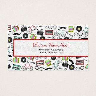 Cartão de visita temático do hipster
