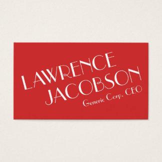 Cartão de visita tipográfico elegante