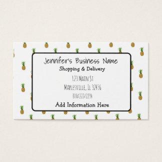 Cartão de visita tropical Cutesy do abacaxi