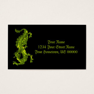 Cartão de visita verde-claro do dragão