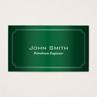 Cartão de visita verde clássico do engenheiro do