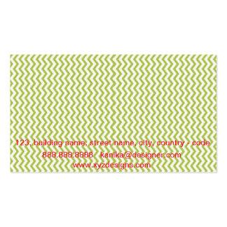 Cartão de visita verde de Chevron