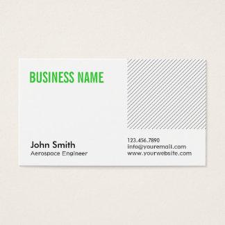 Cartão de visita verde do engenheiro aeroespacial
