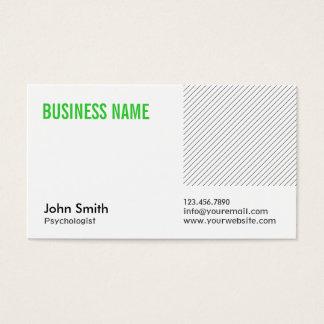 Cartão de visita verde do psicólogo do título