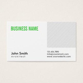 Cartão de visita verde moderno do arquiteto do