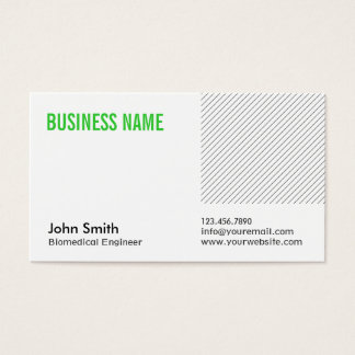 Cartão de visita verde moderno do Biomedical do