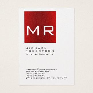 Cartão de visita vermelho à moda carnudo do