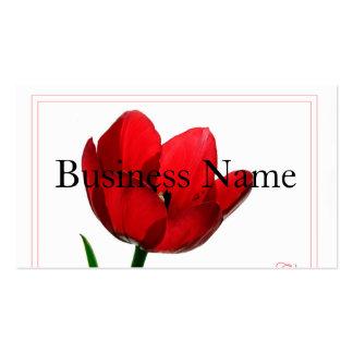 Cartão de visita vermelho da tulipa