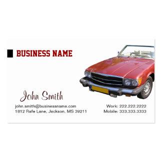 Cartão de visita vermelho do lavagem de carros e d