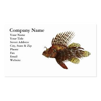 Cartão de visita vermelho do Lionfish