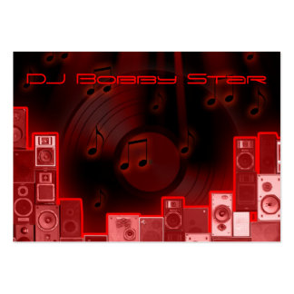cartão de visita vermelho legal do laser do DJ
