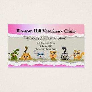 Cartão de visita veterinário