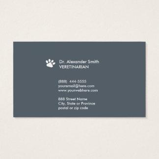 Cartão de visita veterinário do ı da pata do cão