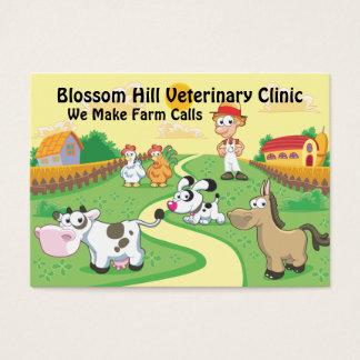 Cartão de visita veterinário engraçado