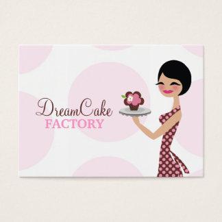 Cartão De Visitas 311 Carlie o avental de Cutie do cupcake