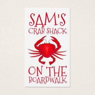 Cartão De Visitas A barraca vermelha do caranguejo de Maryland Crabs