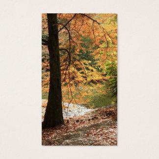 Cartão De Visitas A beleza do marcador do outono