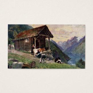 Cartão De Visitas A cabine das empregadas domésticas norueguesas do