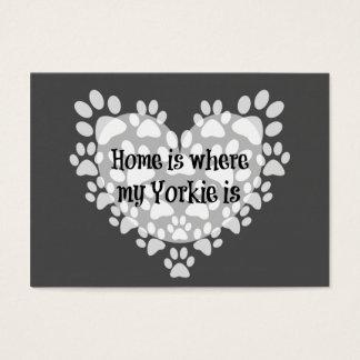 Cartão De Visitas A casa é o lugar onde meu Yorkie é citações