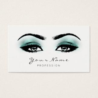 Cartão De Visitas A composição de Tiffany do Aqua chicoteia o branco