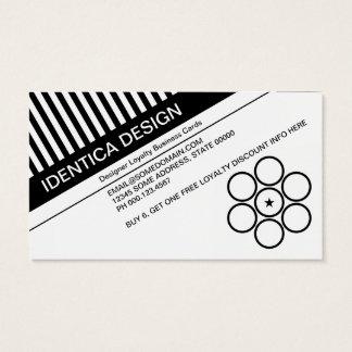 Cartão De Visitas a diagonal cega o perfurador da lealdade