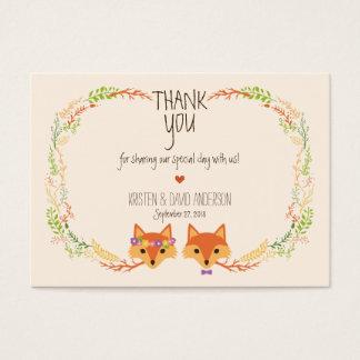 Cartão De Visitas A floresta lunática Foxes Tag/cartões do presente