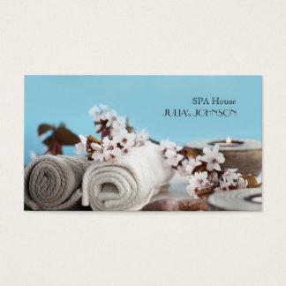 Cartão De Visitas A massagem da casa dos termas relaxa o salão de