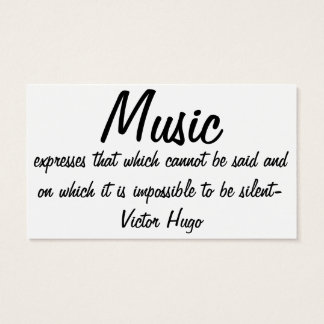Cartão De Visitas A música expressa…