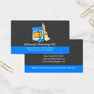 Cartão De Visitas A pintura da pintura do pintor pode escova de